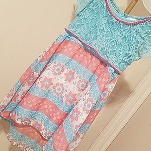 Nannette highlow dress with lace cover 2t
